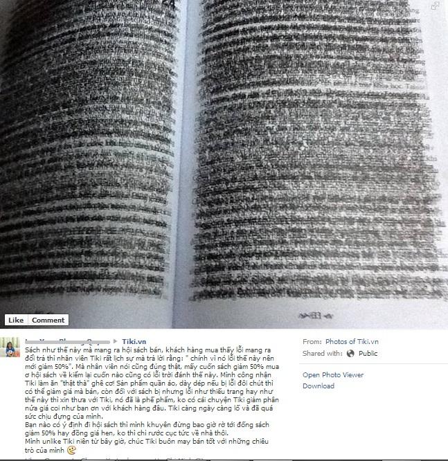 """Bài học từ """"vụ"""" sách lỗi trong chợ sách Tiki"""